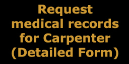 detailed medical record request for                       carpenter