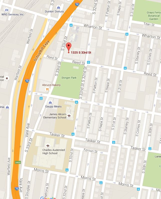 map to Reed Street Health Center